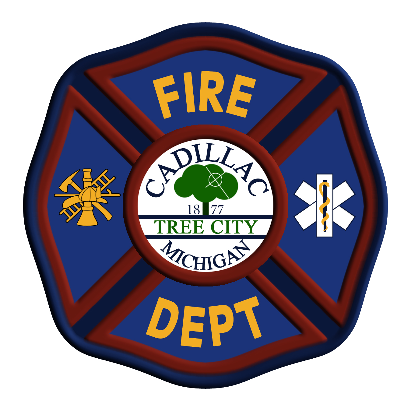 Cadillac Fire Department Patch