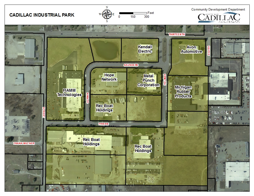 Cadillac Industrial Park Map