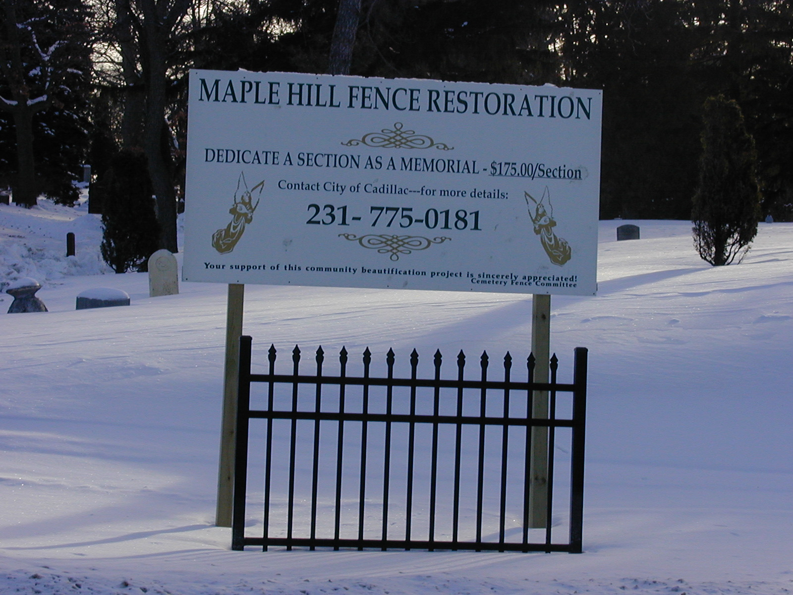 Cadillac, MI - Official Website - Fence Donation